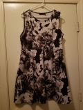 Black and white floral skuba dress