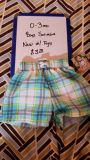 NEW W TAG 0-3 mo boys swimsuit trunks