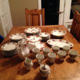 46 pc Victoria Rose China by Baum Bros