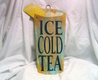Iced Tea Kitchen Bar Outside Decor Plaque Wall Hanging Engraved 12""