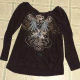 Long Sleeve Shirt With Open Back Size XL