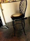 bar stool with a back