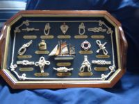 Nautical wood tray with knots