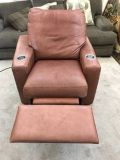Brown Leather Recliner chair with cup holders