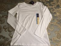 Brand new with tags girls 10-12 white long sleeve crew neck shirt