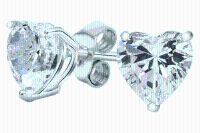***BRAND NEW***Heart-Cut Studs Made with Swarovski Elements***3 1/2 CTTW