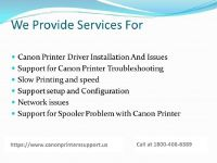 Canon printer service help center