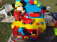 Mickey Mouse Tool Work Bench with the Tools