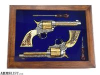 For Sale: Cased Cattle Brand Engraved Colt Single Action Army Pair .38 Special and .32-20 (C13518)