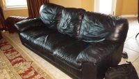 $600, Natuzzi Italian Leather Couches  Chair with Ottoman