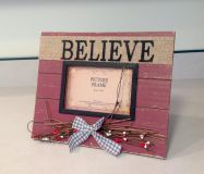 SELF STANDING WOODEN PICTURE FRAME