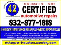 Certified | Transmission and Engine Repair Shop | AutoPRO-Houston