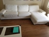 Sofa and chaise lounge white
