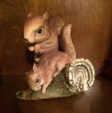 Masterpiece Homeco Mama & Baby Red Squirrel Figurine