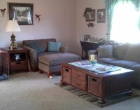 Coffee Table(52Wx33Dx20H) Oversized Chair, Ottoman. End Table(24Wx28Dx26H)