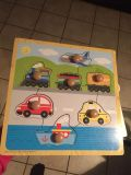 Melissa and Doug puzzle with wood handles