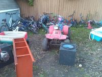 bikes, wheeler, speakers, cars, rims, ls, scooters,  and more . yard sale at 8am sunday