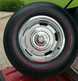 Buy 1967 Corvette DG DC 15 x 6 Wheels Red line Tires Trim Rings Center Caps 67 Only motorcycle in Wentzville, Missouri, United States, for US $1,200.00