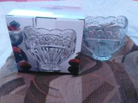 Floral garden crystal candy dish