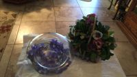 Flower basket glass bowl you can change flowers in bowel