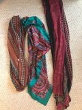 Assorted printed scarves. $1 each.