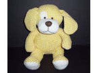 "13"" Animal Adventure Baby Yellow Puppy Dog Plush Seersucker"