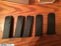 For Sale: 5 glock 19 factory mags