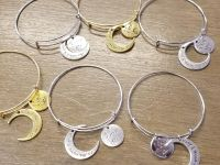I love you to the moon and Back Wire bracelets