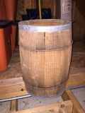 "Antique Wood Barrel 18"" tall"
