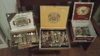 Bar Man Cave Vintage Beer Bottle Openers in Cigar  Boxes