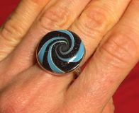 Lovely universe swirl ring- handcrafted