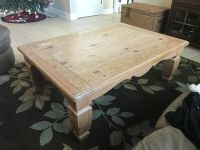 Large, Heavy, solid wood coffee table. Pick up DeLand.