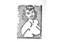 Vtg Pinup Rubber Stamp Buxom Beauty Nude Woman Girl by