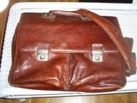Leather Satchel (Can be Used for Large Laptop)