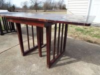 Table*Vintage*Folding*All Wood*Red Mahogany*