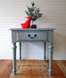 Ethan Allen Distressed Gray Side Table
