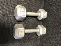 Two 10 pound dumbbells