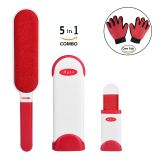 Pet Hair Remover With Self-Cleaning Base, Reusable, Double-Sided, Cat & Dog Hair Brush, Fur and Lint Removal