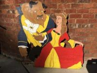 Beauty and beast wooden sign