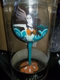New cypress hand painted wine glasses. 5 each
