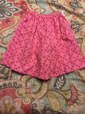 Pink flowery coulotte split skirt