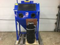 Dee Blast Top / Side Opening Sandblast Cabinet w/ Foot Pedal