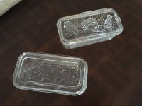 Vintage Heavy Glass Refrigerator Box Containers (2 large)