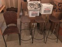 Pier one wicker bar stools and desk chair