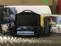19 inch GAEMS PS4 XBOX ONE S console with controller and game cases