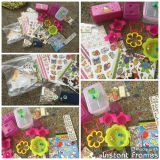 Different lunchbox items, cute food containers, sandwich cutters, treat holders, all girly flower, bug, etc theme. $3.00