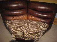 """Brown Leather """"L"""" shaped joining piece"""
