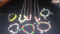 Bracelets necklaces earrings or you can design your own