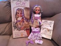 Velvet Doll From Ideal w/Swirly Daisies Her Hair Grows & Grows(Crissy's Cousin)