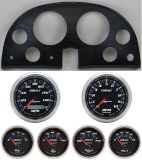 Find 63-67 Corvette Carbon Dash Carrier w/ Auto Meter Cobalt Gauges motorcycle in Carson City, Nevada, United States, for US $1,219.95